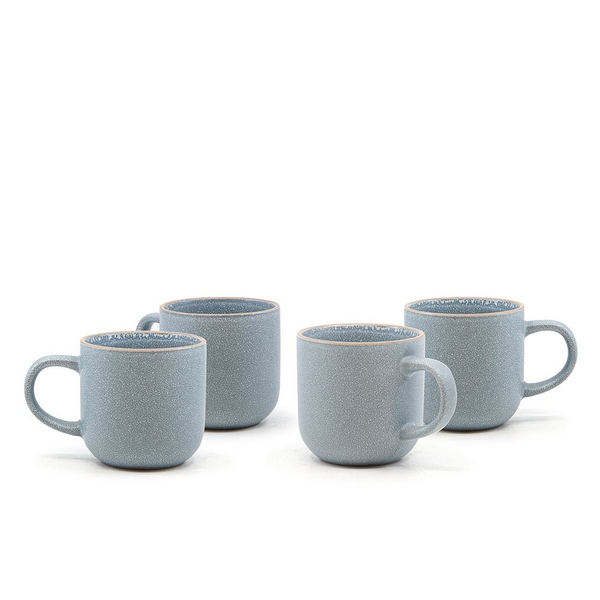 Hana light blue mug set/4