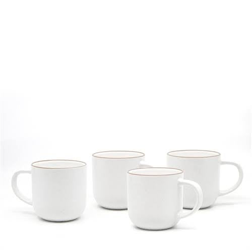 Hana white mugs set/4