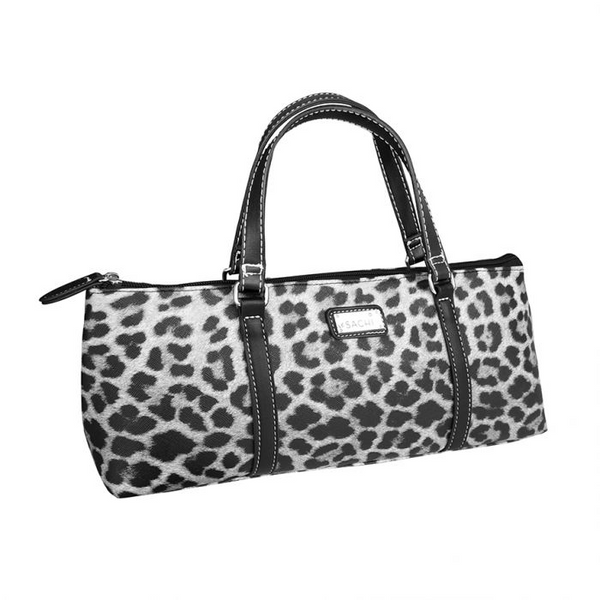 SACHI INSULATED WINE PURSE - LEOPARD GREY