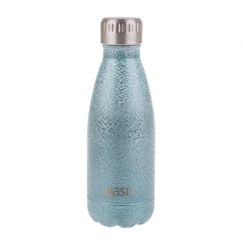 "OASIS ""SHIMMER"" S/S DOUBLE WALL INSULATED DRINK BOTTLE 350ML - ARCTIC BLUE"