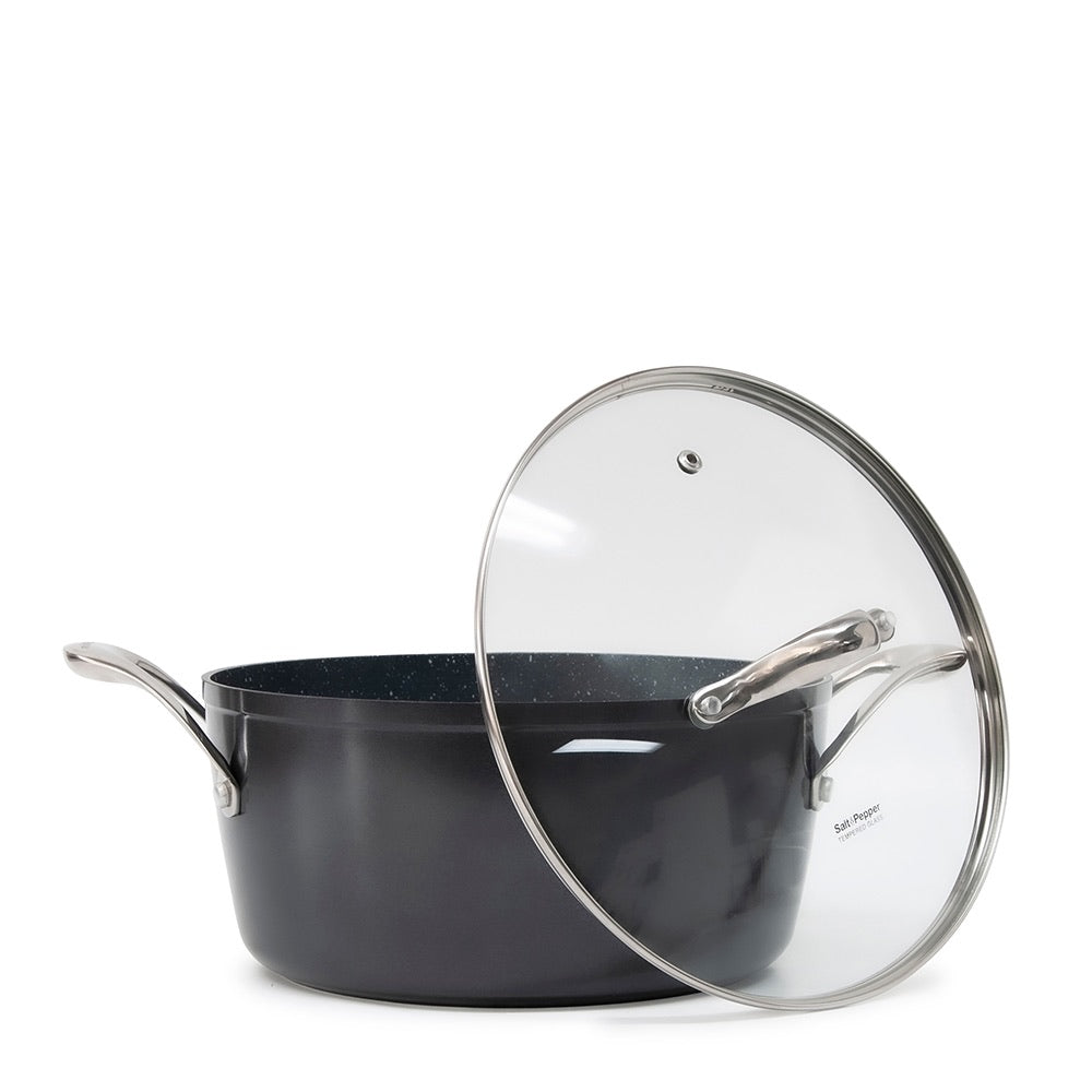 S&P TAN-IUM Casserole with Glass Lid - 24cm