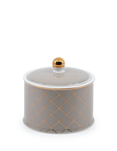 Christopher Vine High Tea sugar bowl 10cm - TAUPE