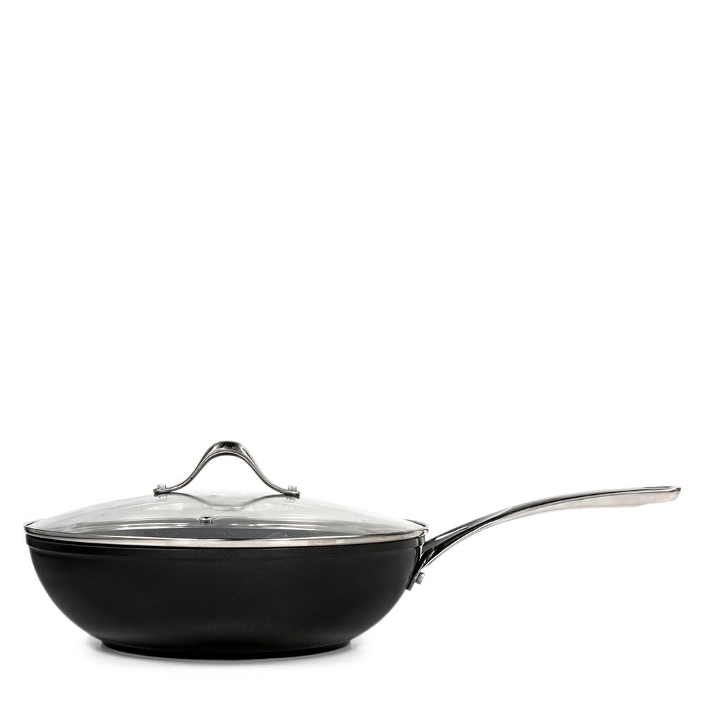 S&P TAN-IUM Wok with Glass Lid - 28cm