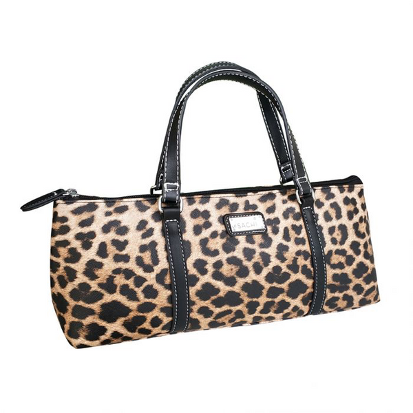SACHI INSULATED WINE PURSE - LEOPARD NATURAL
