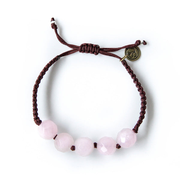 MY POWER Bracelet Rose Quartz Crystal | Opens Heart Energy Flow