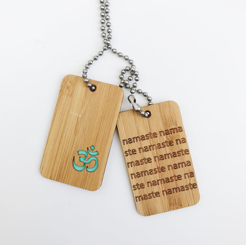 Bamboo DogTags - Om