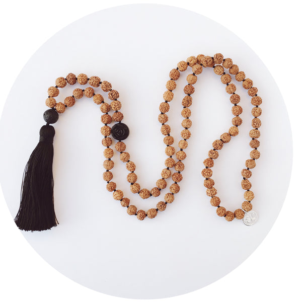 Rose Rudraksha Necklace