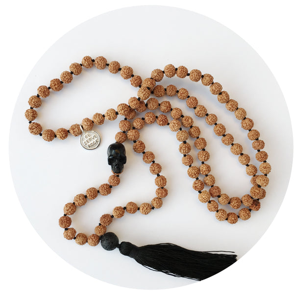 Skull Rudraksha Necklace