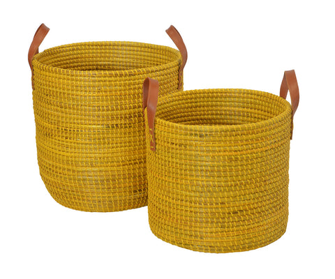Yellow Seagrass Basket