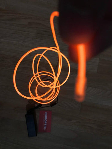 Sound Reactive Orange EL wire 6' ft - Cosplay LED String Light, Projects & Costume