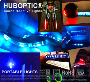 HUBOPTIC® Sound Reactive Green 12 LED (10mm) Split 4 to 1 - Cosplay DIY lights, Projects & Costumes