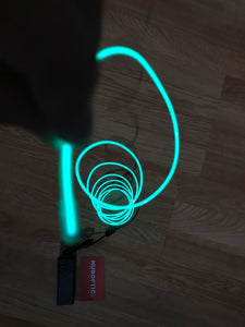 Sound Reactive Green EL wire 6' ft - Cosplay LED String Light, Projects & Costume