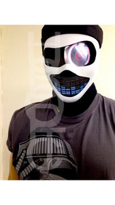 HUBOPTIC® Custom Robot Mask Sound Reactive Cyborg LED Stage Mask Theater Props Costume Cosplay