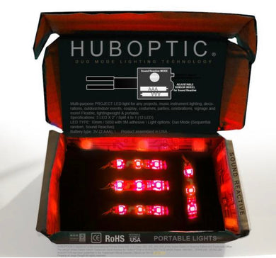 HUBOPTIC® Sound Reactive Red 12 LED (10mm) Split 4 to 1 - Cosplay DIY lights, Projects & Costumes