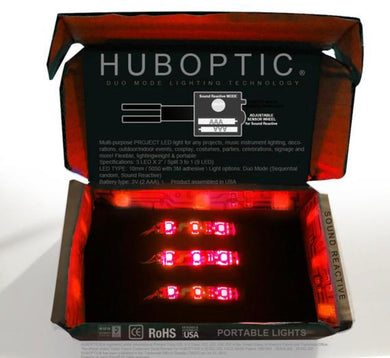 HUBOPTIC® Sound Reactive Red 9 LED (10mm) Split 3 to 1 - Cosplay DIY lights, Projects & Costumes