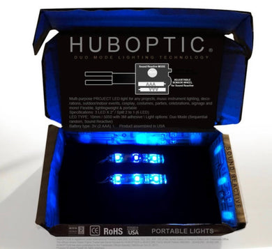 HUBOPTIC® Sound Reactive Blue 6 LED (10mm) Split 2 to 1 - Cosplay DIY lights, Projects & Costumes