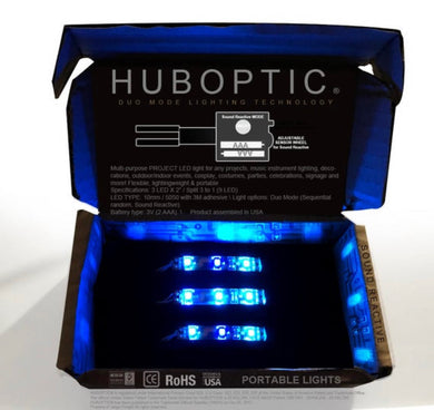 HUBOPTIC® Sound Reactive Blue 9 LED (10mm) Split 3 to 1 - Cosplay DIY lights, Projects & Costumes