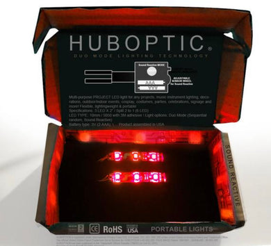 HUBOPTIC® Sound Reactive Red 6 LED (10mm) Split 2 to 1 - Cosplay DIY lights, Projects & Costumes