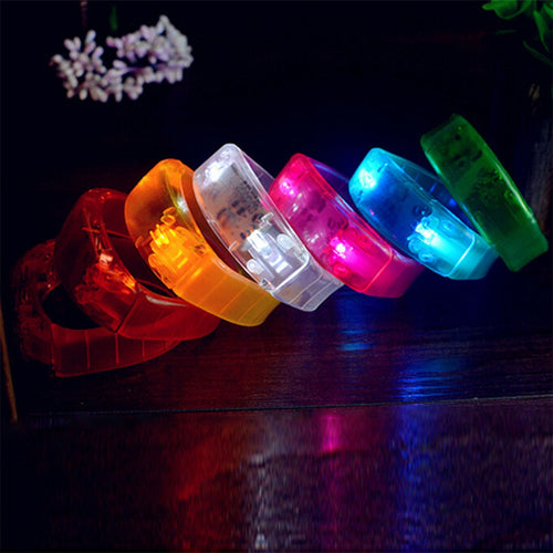 Sound Controlled LED Light Up Bracelet Activated Glow Flash Bangle For Festival Party