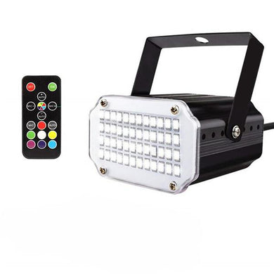 DJ Lights - 48LEDs 7Colors Strobe Light with Remote Sound Activated Super Bright Flashing Stage Light for DJ Party Show Club Disco
