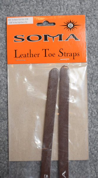 Soma Leather Toe Straps w/Buckle Pad - Brown