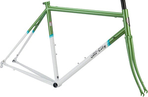 All City - Mr. Pink Classic Frameset Green and White