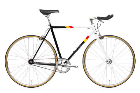 "State Bicycle Co. - 4130 - VAN DAMME – BULLHORN BARS - ""LO-PRO' WHEELS - (FIXED GEAR / SINGLE-SPEED)"