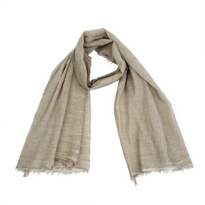 Antique Dye Scarf - Yoga - Beige - Petalino Flower Bar & Events