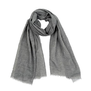 Antique Dye Scarf - Yoga - Grey - Petalino Flower Bar & Events