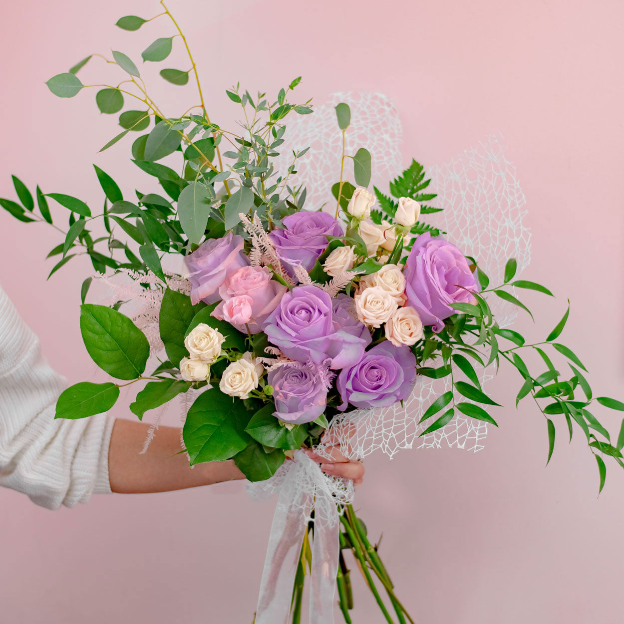 BQ-1023 PINK ROSE BOUQUET