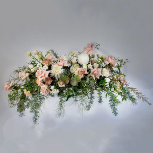 WILD AND MODERN PINK CASKET SPRAY