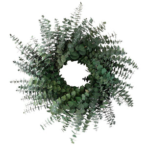 XMAS-1315 Fresh eucalyptus baby blue Christmas wreath