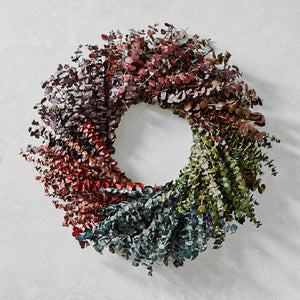 Tinted Eucalyptus baby blue Christmas wreath