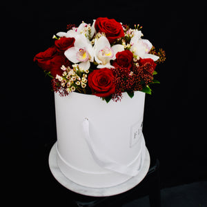 BSK-7001 Orchid and Rose Flower Basket
