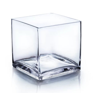 "Add a Glass 5x5"" square vase"