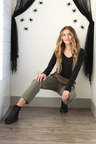 Easy costume with normal clothes idea: Kim Possible Halloween costume with Niche+Co clothes