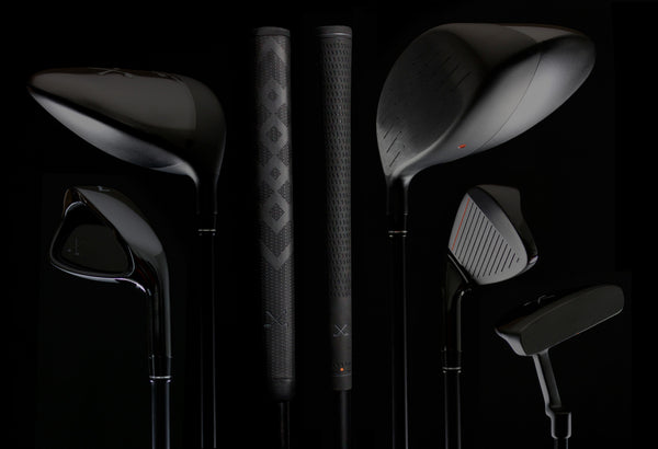 picture of stix golf club set on black background