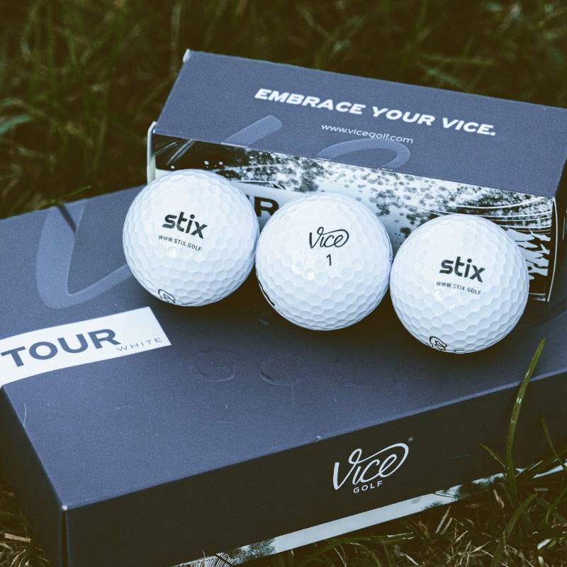 Stix + Vice Tour Golf Balls - 1 dozen