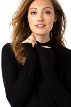 Load image into Gallery viewer, MOCK NECK LONG SLEEVE KNIT TOP