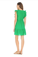 Load image into Gallery viewer, V-NECK RUFFLE DRESS
