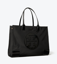Load image into Gallery viewer, ELLA PATENT TOTE - TORY BURCH - BLACK