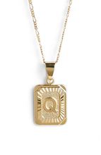 Load image into Gallery viewer, GOLD FILLED INITIAL CARD NECKLACE