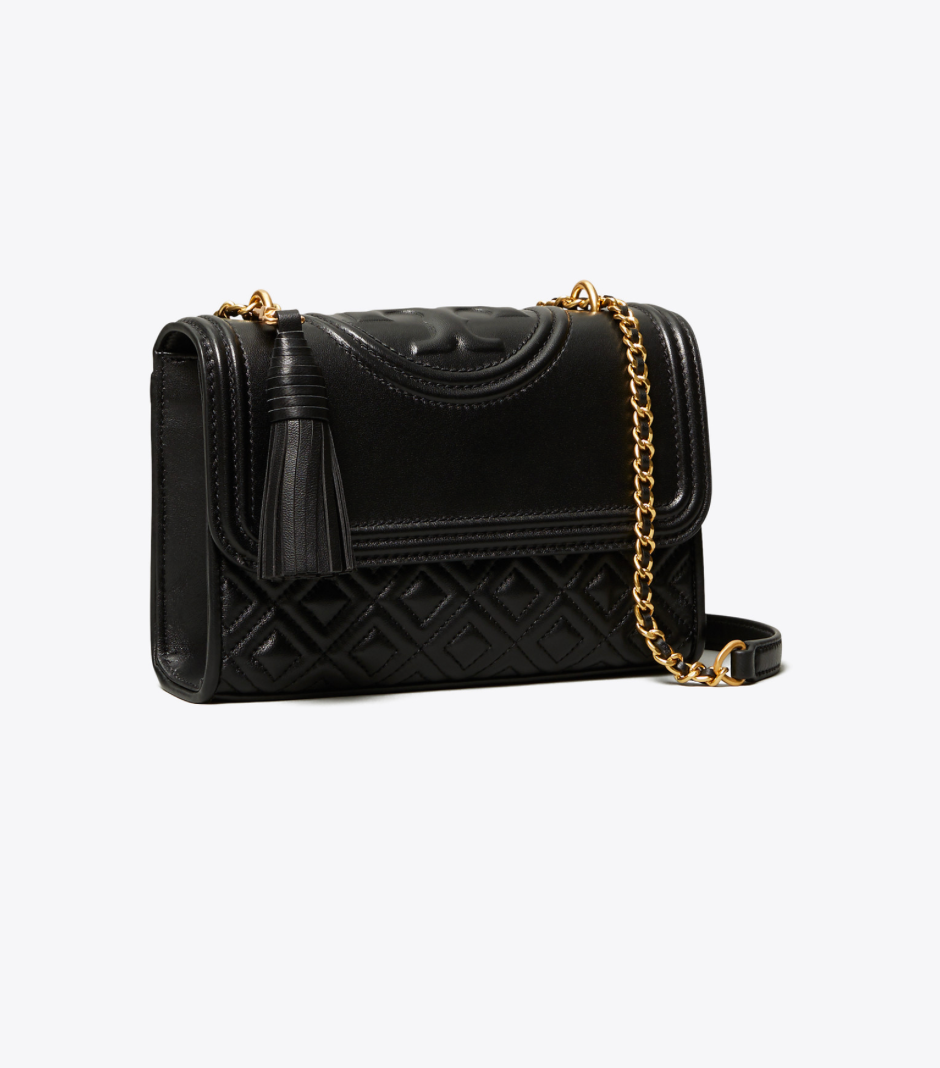 FLEMING SMALL CONVERTIBLE SHOULDER BAG - TORY BURCH - BLACK