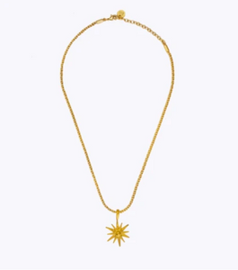 STARBURST OBLONG CHAIN NECKLACE - GOLD