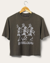 Load image into Gallery viewer, DANCING SKELETONS CROP TEE
