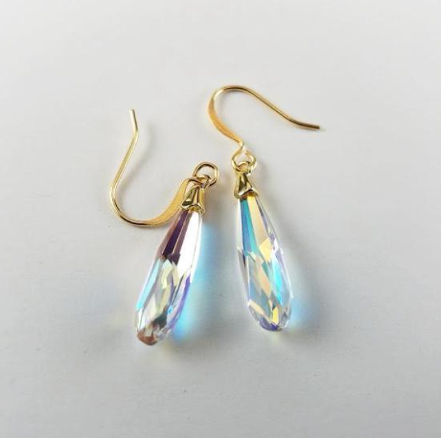 AURORA'S CRYSTAL TEARS EARRINGS - VERDIER