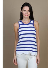 Load image into Gallery viewer, SCALLOP STRIPE SHAKER TANK