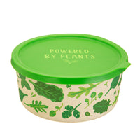 Powered by Plants Round Bamboo Lunch Box