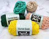 Turtle Bags - Organic Yellow Dip Dye Short Handled String Bag