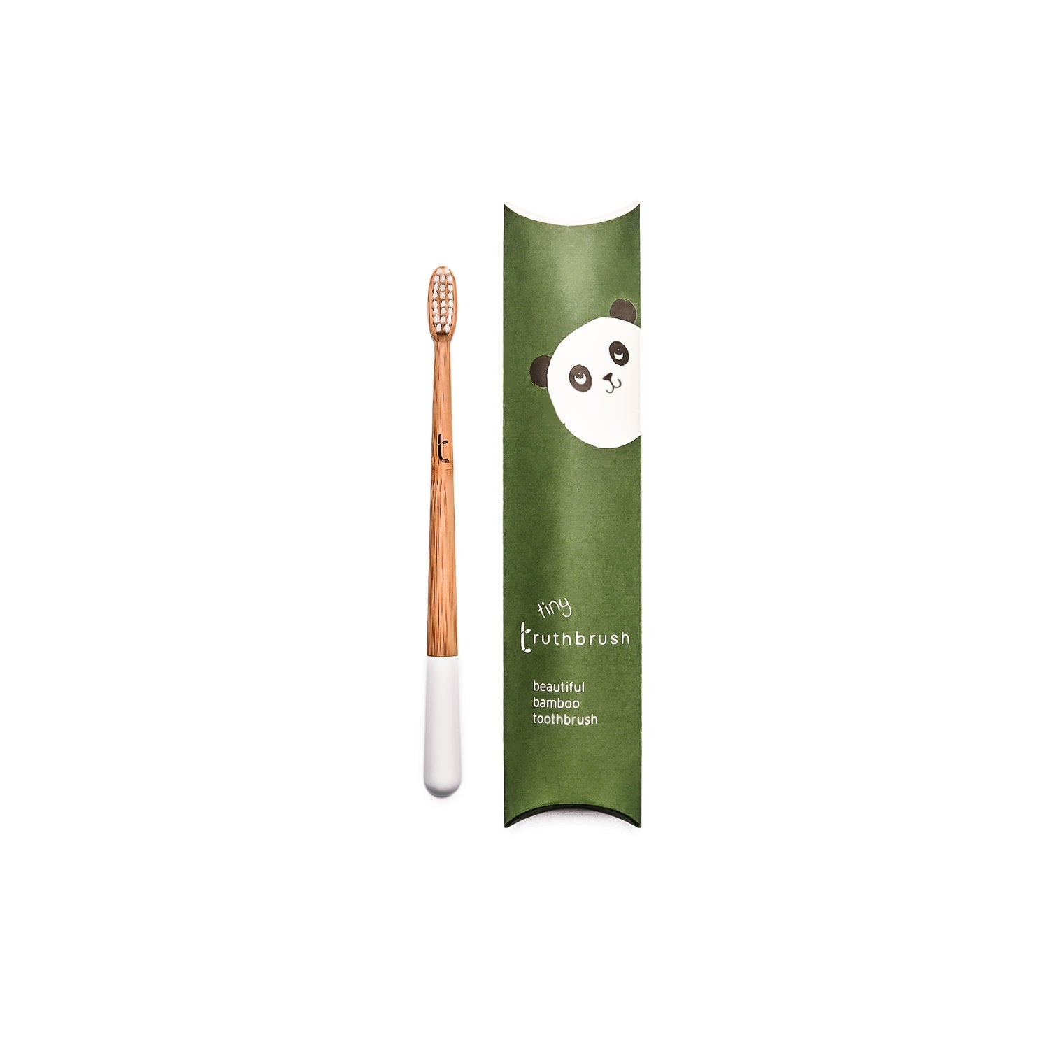 Truthbrush Tiny Bamboo Toothbrush - Cloud White